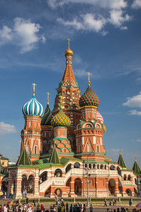The magnificent St Basil's Cathedral in Moscow. Ivan the Terrible had it built to commemorate his capture of Kazan in 1552.