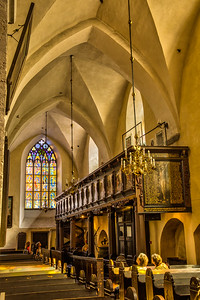 In Tallinn, Estonia, the interior of the Holy Spirit Lutheran Church, a gothic beauty dating from the 13th century (originally built as Catholic).