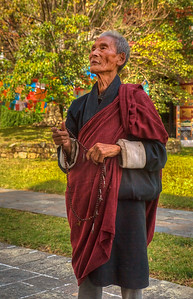 An elderly gentlemen who provided us a great deal of enlightenment about the Buddhist temple we were visiting.