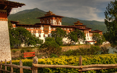 A dzong in Bhutan. Dzongs serve both administrative and religious purposes in Bhutan. The official religion in Bhutan is Vajrayana Buddhism, established in the country's constitution, although freedom of religion is also guaranteed.
