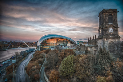 Sage Gateshead At Sunset