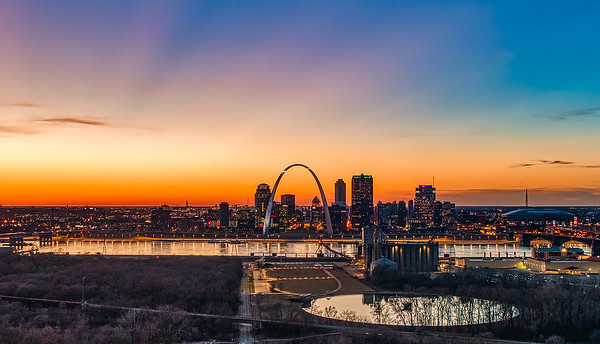 St. Louis Skyline and Malcolm W. Martin Memorial Park
