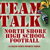 Peabody's Greg Celentano talks with sports writers Phil Stacey and Matt WIlliams about the Tanners' upcoming game with Prep..