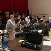 "The SInging Janitor: Custodian John Robinson performs ""Night and Day"" with the Salem High School Jazz Band."