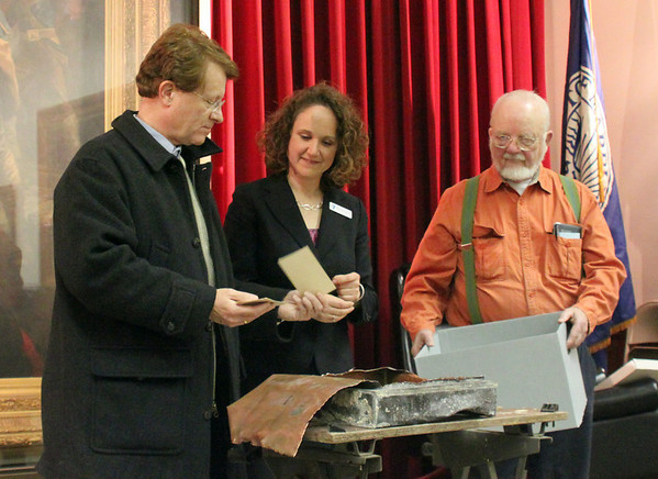 Marblehead: Time capsule.  photo by Alan Burke / Salem News