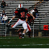 Senior Ryan Flannery kicks off for the Panthers on Saturday. Flannery made every field goal for the Panthers on Saturday making the final score 51-0 against the Saugus Sachems.