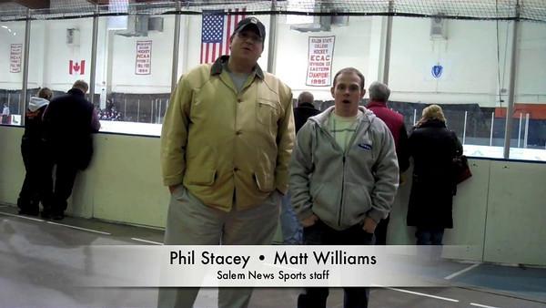 Salem News sports editor Phil Stacey and staff writer Matt Williams host the first Salem News hockey video podcast.