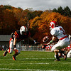 Captain Steve Dubois recieves the ball for the Beverly Panthers on Saturday.