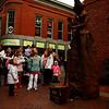 Tourists visiting Essex St. in Salem for the Hallowarf activities . Photo by Jennifer Ballou/Salem News