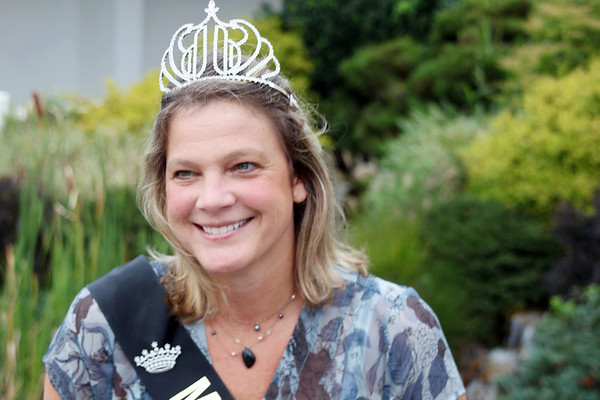 Topsfield: Krista Mclellan, Mrs. Essex County, smiles at a press preview for the Topsfield Fair.  photo by Alan Burke / Salem News