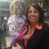 Shaylee and Mayor Kim Driscoll during Trick-Or-Treat with the Mayor.<br /> <br /> Photographer's Name: Wyatt Paige<br /> Photographer's City and State: Salem, MA