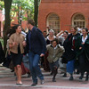 "Salem: Cast of "" Cry Innocent,"" street theatre chase Stacy London and Clinton Kelly of ""What Not To Wear."" Photo by Amanda McGregor/Salem News"