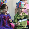 "Peabody:<br /> Kayla Fry and Jonathan Ward sing during the  ""Commotion in the Ocean"" event held by the New Beginnings Preschool at St. Vasilios Church. <br /> Photo by Ken Yuszkus/The Salem News, Wednesday, April 10, 2013."
