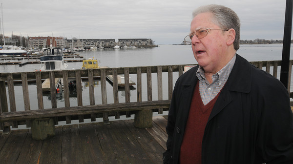 Beverly:<br /> Paul Earl, chairman of the Beverly Harbor Management Authority, speaks about the new regulations and where fishing will and won't be allowed at the Beverly waterfront.<br /> Photo by Ken Yuszkus/The Salem News, Thursday, April 11, 2013.