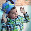 "Peabody:<br /> Caden Medeiros sings and gestures during the ""Commotion in the Ocean"" event held by the New Beginnings Preschool at St. Vasilios Church.<br /> Photo by Ken Yuszkus/The Salem News, Wednesday, April 10, 2013."