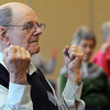 Beverly:<br /> Dick Aiken participates in the exercise for people with arthritis program at the Beverly Council On Aging on Tuesday afternoon.<br /> Photo by Ken Yuszkus/The Salem News, Tuesday, April 23, 2013.