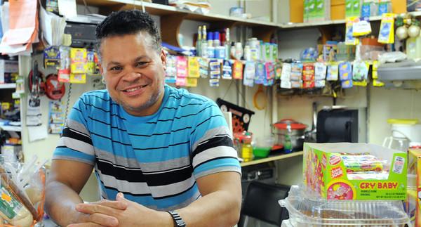 Salem:<br /> Francisco Lora is the owner of Tropicana Market in Salem.<br /> Photo by Ken Yuszkus/The Salem News, Friday, April 19, 2013.