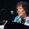 Peabody:<br /> Sandy Weitz does the Yom HaShoah Reading during the Holocaust rememberance ceremony at the Peabody High School auditorium.<br /> Photo by Ken Yuszkus/The Salem News, Monday, April 8, 2013.