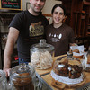Salem:<br /> Andy and Jackie King, owners of A&J King Artisan Bakers on Central Street in Salem, have a cookbook coming out in August. <br /> Photo by Ken Yuszkus/The Salem News, Wednesday, April 10, 2013.