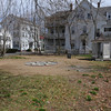 Beverly:<br /> Looking at the backyard from the Cabot House. The garden will be restored to its original historical plan.<br /> Photo by Ken Yuszkus/The Salem News, Friday, April 19, 2013.
