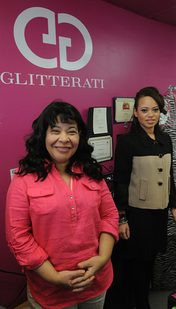 Salem:<br /> Immigrant Entrepreneur Nominee Lisandra Mones, left, and daughter Katherina Mena at their store Glitterati in Salem<br /> Photo by Ken Yuszkus, Monday, April 16, 2013.