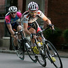 Tim Johnson, of Beverly, Mass., rounds a corner towards the end of the elite men's Witches Cup bicycle race in Salem. Johnson came in fifth among the field of 95 competitors. Photo by Mary Catherine Adams/Salem News.