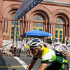 Beverly: One rider in the first race in the Beverly Grand Prix crosses the finish line and looks to complete another lap on Wednesday afternoon. The Grand Prix was held right in the downtown area of Beverly, with spectators lining the streets to get a better look at the races. Photo by David Le/Salem News
