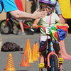 Beverly:<br /> Asa Labell, 4, stops on command at the obstacle course at the kids bike safety rodeo at Lynch Park. An age-appropriate obstacle course was constructed and directed by officers of the Beverly Police Department. Members of the Kiwanis Club of Beverly offered safety information and provide a helmet for all children in need of one.  <br /> Photo by Ken Yuszkus, Salem News , Monday, August 5, 2013.