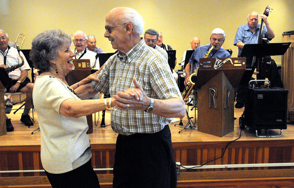 Beverly:<br /> Doris and Paul Demers dance during the Big Band dance at the Beverly Senior Center hosted by Council on Aging which was part of Beverly Homecoming.<br /> Photo by Ken Yuszkus, Salem News , Tuesday, August 6, 2013.