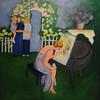 "Beverly:<br /> Valerie McCaffrey's painting titled ""Christine Elizabeth Unfinished"".<br /> Photo by Ken Yuszkus, Salem News, Thursday, August 15, 2013."