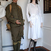 "Peabody:<br /> A World War I U.S.Army uniform and a nurse outfit are on display at the ""Downton Abbey Style,"" exhibit showing clothing from the Downtown Abbey era -- World War I to the Jazz Age at the Peabody Historical Society.<br /> Photo by Ken Yuszkus, The Salem News, Friday, August 16, 2013."