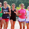 Peabody: The Peabody High School girls cross country team will be led by from left, junior Carrera Dean, senior captain Sydney May, sophomore MacKenzie Picardy, senior captain Samantha Allen, and junior Julia Merchant. David Le/Salem News