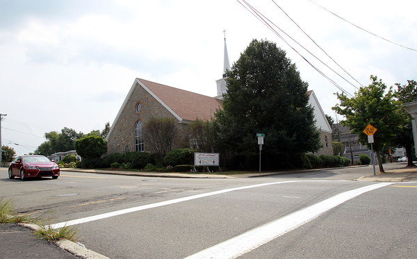 Salem: An elderly gentleman was struck in the crosswalk while crossing Jefferson Avenue in Salem on Thursday morning on his way to service at St. Anne's Church, and was taken to the hospital. David Le/Salem News