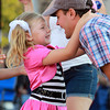 Danvers: Six-year-old Taylor Skane of Danvers, dances with her father Ian, at the annual Oldies Night in Danvers Square on Wednesday evening. David Le/Salem News
