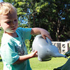 Beverly: Noah Sweeney, 3, of Lynnfield, uses a grey elephant to water some plants in the Children's Garden at Long Hill, during the Summer Program on Wednesday afternoon. The Summer Program runs every Wednesday afternoon through August 28th, from 3:30-5pm, at Long Hill at 572 Essex St in Beverly. David Le/Salem News