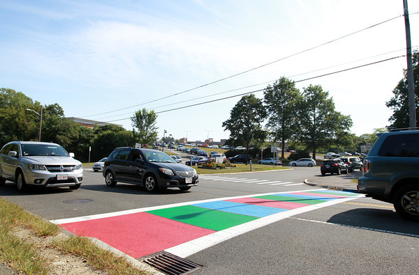 Salem: A crosswalk across from Salem High School on Willson St. in Salem was recently painted as a joint effort of Salem Cyberspace, Mass in Motion Salem, and the Salem DPW. David Le/Salem News