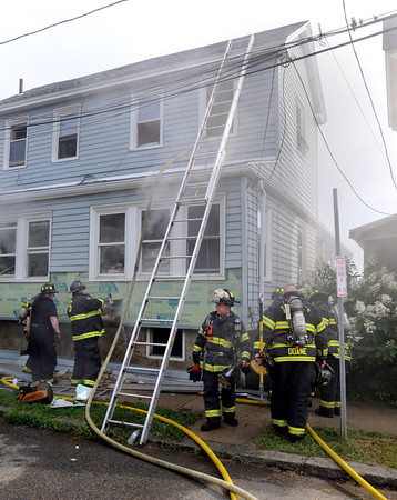 Salem:<br /> The scene of the morning fire at 1 Beach Avenue in Salem. <br /> Photo by Ken Yuszkus, The Salem News, Thursday, August 22, 2013.