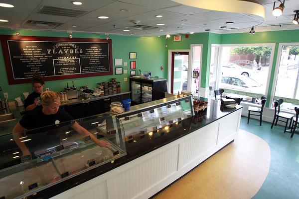 Salem: Salem Screamery, a new ice cream shop located at 60 Washington St. in Salem, had its grand opening last week. David Le/Salem News