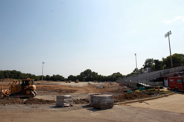 Salem: Bertram Field, behind Collins Middle School in Salem, is currently undergoing renovations to install turf and a track. David Le/Salem News