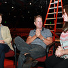 Beverly: From left, Richard Stafford, Director and Choreographer of Cats, Bill Hanney, Owner and Director of the North Shore Music Theatre, and Arianna Knapp, Artistic Director for NSMT, talk about the latest musical to hit the stage at the North Shore Music Theatre. David Le/Salem News