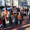 Boy Scout troops gather outside Wesley United Methodist Church where James Ayube Jr. was a member of Boy Scout troop 24.    photo by Mark Teiwes / Salem News