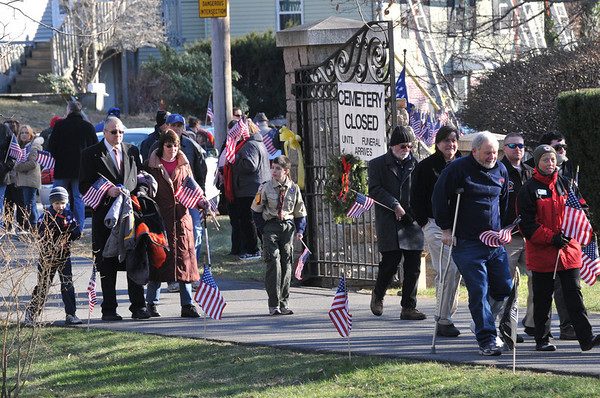 The burial was at Harmony Grove Cemetery.  photo by Mark Teiwes / Salem News