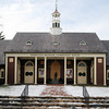 Ken Yuszkus/Staff photo. Wenham: The cupola atop the Community House has been restored and reattached to the building. It was taken down to be repaired.