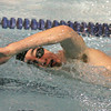 Ken Yuszkus/Staff photo. Danvers: Beverly's Nick Groblewski swims the 200 free style during the Beverly at Danvers swim meet season opener.
