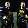 Peabody:<br /> Charlie Maistrellis, left, and Eric Razney at the the Bishop Fenwick football team practice. They are getting ready for the Division 5 Super Bowl on Saturday.<br />  Photo by Ken Yuszkus / The Salem News, Monday, December 2, 2013.