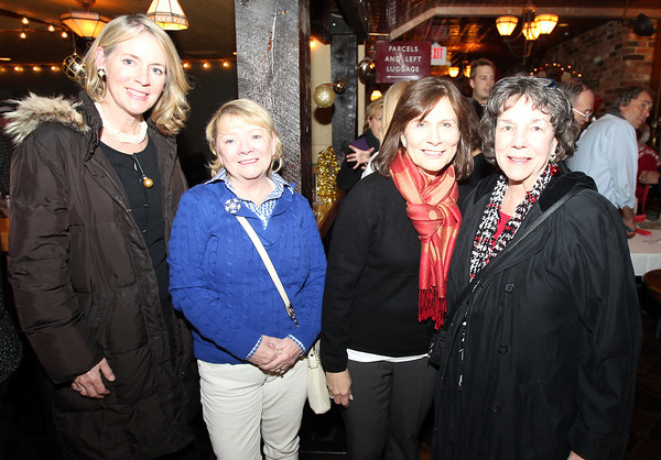 Salem: From left, Sarah Harrington, Peggie O'Toole, Kathy Walsh, and Ellen Galligan, at the 20th annual Salem Children's Charity party held at Victoria's Station in Salem on Tuesday evening. DAVID LE/Staff Photo