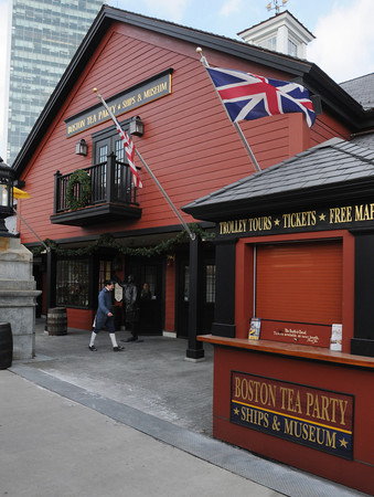 Ken Yuszkus/Staff photo: The front entrance of the Boston Tea Party Ships and Museum.