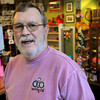 Ken Yuszkus/Staff photo. Salem: Jeff McKee of The Barking Cat talks about the popular holiday pet gifts at his store.