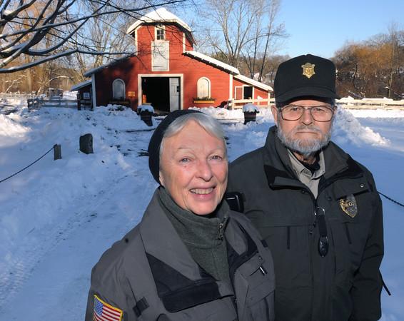 Ken Yuszkus/Staff photo: Danvers:  Joan and David Townley, long-time caretakers at Endicott Park, are retiring.