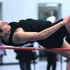 Ken Yuszkus/Staff photo: Danvers: Marblehead's Olivia Vener successfully jumps over the bar at the Marblehead at Danvers indoor track meet.